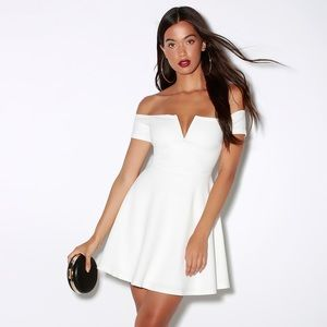 Lulus White Off-Shoulder Dress
